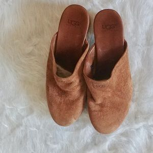 UGG Suede Leather Clogs